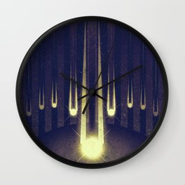 Sol System - Meteor Shower Wall Clock