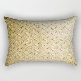 Gold Painted Metal Stylish Design Rectangular Pillow