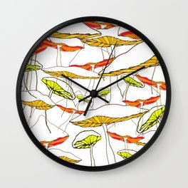 forest of the magic mushrooms Wall Clock