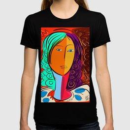 Red Portrait expressionism T-shirt
