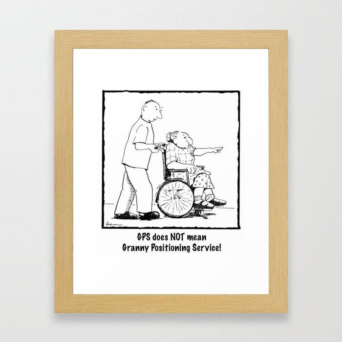 Granny GPS Framed Art Print
