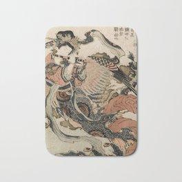 Hokusai, Aspara and the flute – musician manga, japan,hokusai,japanese,北斎,ミュージシャン Bath Mat