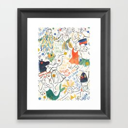 Carnaval Framed Art Print