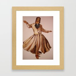 The Remembrance of Allah - A Sufi Whirling Dervish Framed Art Print