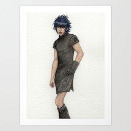 Flirty Outfit Art Print