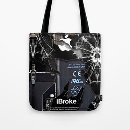 Broken Damaged Cracked out handphone iPhone Tote Bag
