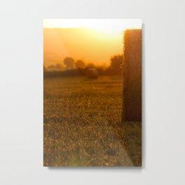 Straw bales Metal Print