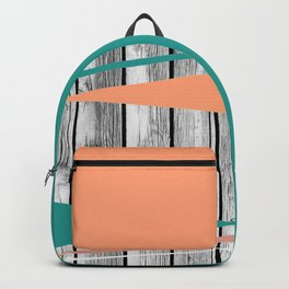 Colored arrows on wood Backpack