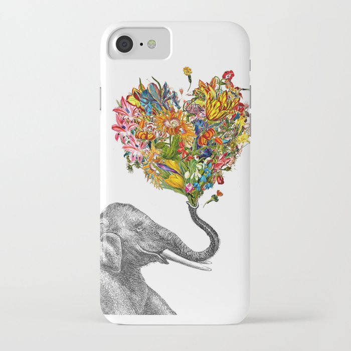 happy elephant iphone case