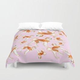 Akita Inu Pattern Duvet Cover