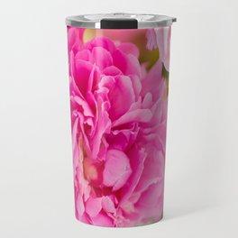Large Pink Peony Flowers #decor #society6 #buyart Travel Mug