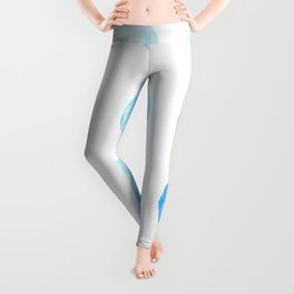 Calming Blue Watercolor Circles Leggings