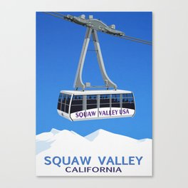 Squaw Valley Ski Resort ,LakeTahoe , California Canvas Print