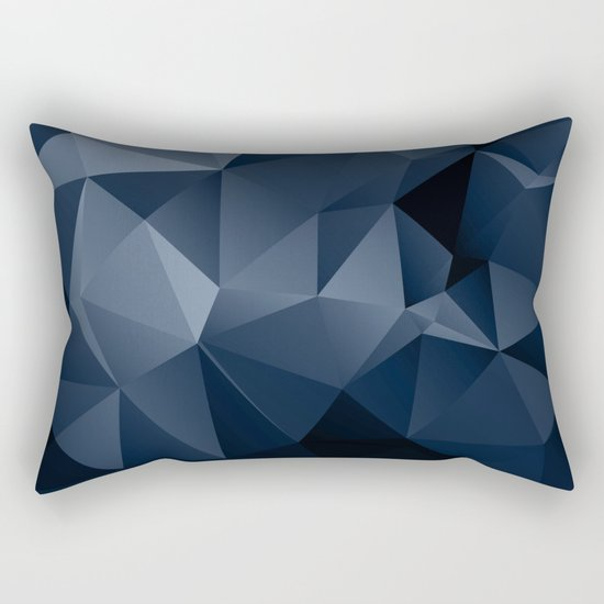 Black and blue polygonal pattern . Rectangular Pillow