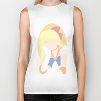 sailor venus Biker Tanks featuring Sailor Venus by Polvo