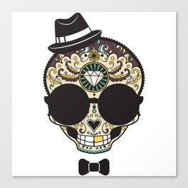 Blind Sugar Skull Canvas Print