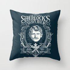Sherlock's Shave Balm Throw Pillow