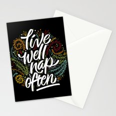 live well, nap often Stationery Cards