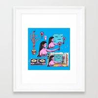 raven Framed Art Prints featuring Raven by Gel Jamlang
