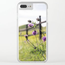 Bumblebee Flower Clear iPhone Case