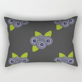 Seamless pattern with blueberries and leaves Rectangular Pillow