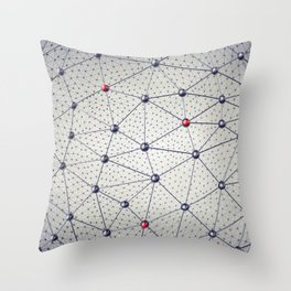 Cryptocurrency network Throw Pillow