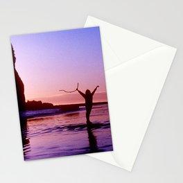 Pacific Epic Sunset: Happy, Joyful & Free! Stationery Cards