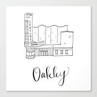 tyler oakley Canvas Prints featuring Oakley by kateohhtay