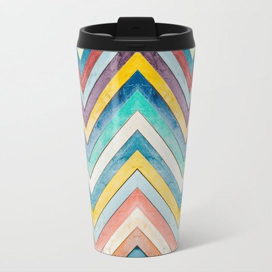 colorful mountains Metal Travel Mug