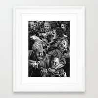 sons of anarchy Framed Art Prints featuring sons of anarchy by dollface87