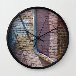 Pastel Street Detail Wall Clock