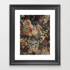 Dramatic Winter Flowers Framed Art Print
