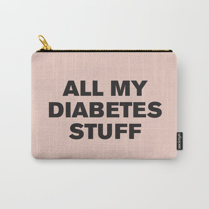 All My Diabetes Stuff™ (Black on Pink) Carry-All Pouch