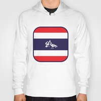thailand Hoodies featuring Thailand Flag, Roosters Sparring by mailboxdisco