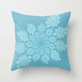 Pastel delicate leaves Throw Pillow