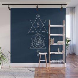 Espiral Triangle Blue Wall Mural