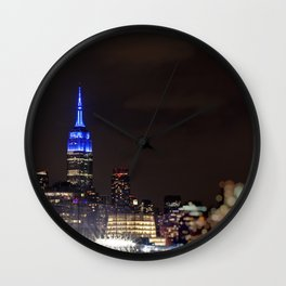 Midtown Manhattan at Night Wall Clock