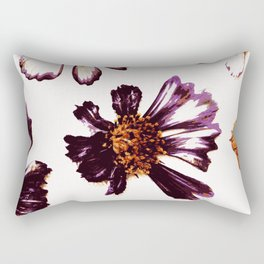 Pressed Autumn Flowers Rectangular Pillow