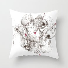 Fishcakes & Remedies Throw Pillow
