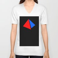 pyramid V-neck T-shirts featuring PYRAMID by anko