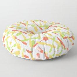 Cutlery silverware pattern Floor Pillow