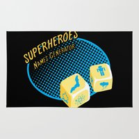 super heroes Area & Throw Rugs featuring Super-Heroes-Name-Generator by sergio37
