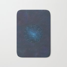 Star Constellations Map Outer Space Bath Mat
