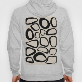 Black and White Abstract Shapes - art, interior, drawing, decor, design, bauhaus, abstract, decorati Hoody