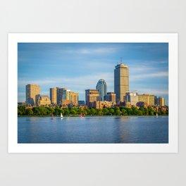 The Boston Skyline Art Print