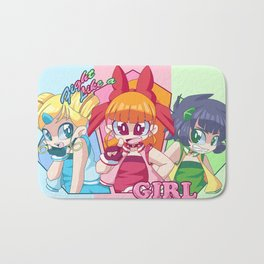Fight Like A Girl! Bath Mat