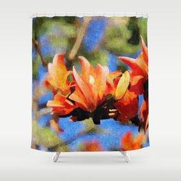 Jungle Flame - Palaash Shower Curtain