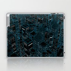 Night light city / Lineart city in blue Laptop & iPad Skin