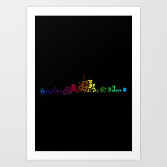 Toronto Skyline Gradient Art Print