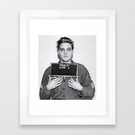 ELVIS PRESLEY ARMY MUGSHOT Framed Art Print